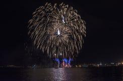 Semestra festmåltiden på tillfället av dagen av Varna havshuvudstaden av Bulgarien - en officiell ferie på Augusti 15th Datumcoie Arkivbilder