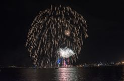 Semestra festmåltiden på tillfället av dagen av Varna havshuvudstaden av Bulgarien - en officiell ferie på Augusti 15th Datumcoie Arkivfoto