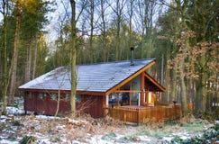 Kabin i den Sherwood skogen Royaltyfri Bild