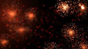 Semestra ljus glänsande bakgrund med röda sparcles för ferie Kretsat diagram för rörelse 4K