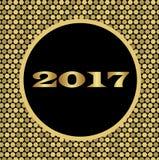 Semestra skinande bakgrund med guld- celler för det nya året Royaltyfria Bilder
