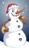 semestra snowmanen Arkivbild