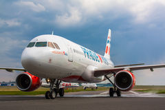 A320 semestrar Czech Airlines Royaltyfri Foto