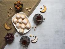 Semestrar kakor Maamoul - den arabiska efterrätten gjorde vanligt några dagar för Eid al-Fitr, påsk och Purim ferier arkivbild