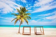 Semestrar och turismbegrepp: Karibiskt paradis. Arkivbilder
