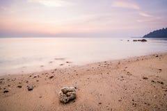 Semestrar på den Tioman ön Färgrikt landskap kan vara prickigt nästan varje dag, då det är högvatten Royaltyfri Fotografi