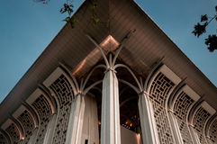 Semetery. A Mosque In Putrajaya, Malaysia that was made mostly out of steel, thus it`s name as `The Steel Mosque Stock Photo