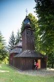 Semetkovce, Eslovaquia - 9 DE AGOSTO DE 2015: Iglesia católica griega de San Miguel el arcángel fotos de archivo libres de regalías