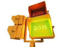 Semáforo 3d del positivo 2011 Imagen de archivo