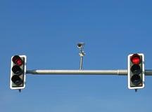 Semáforos y cámara Foto de archivo libre de regalías