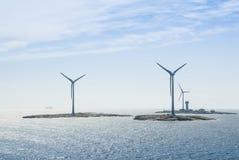 Semi оффшорная земля windfarm Ã… Стоковое Изображение