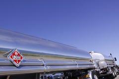semi серебряная тележка трейлера Стоковые Фото