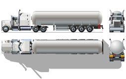 semi вектор тележки топливозаправщика Стоковые Изображения