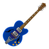 Semi acoustic  guitar Royalty Free Stock Image