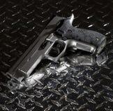 Semi auto handgun Royalty Free Stock Image