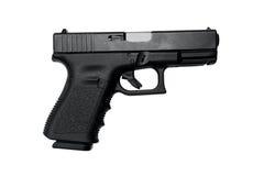 Semi Auto Handgun with clipping path Royalty Free Stock Photos