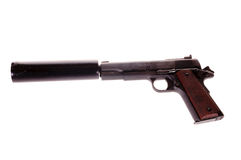Semi-auto with silencer Stock Image