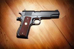 Semi-automatic .45 caliber pistol Royalty Free Stock Photo