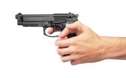 Semi-automatic gun Stock Photos