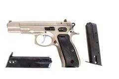 Semi-automatic gun isolated on white background Stock Photos