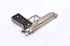 Semi automatic handgun pistol on white background Royalty Free Stock Photo