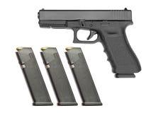 Semi automatic handgun Royalty Free Stock Photography