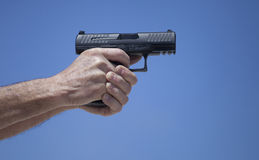 Semi automatic pistol Royalty Free Stock Photography