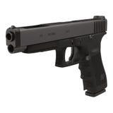 Semi-automatic pistol on white 3D Illustration Stock Image