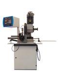 Semi-automatic vertical sawing machine Stock Image