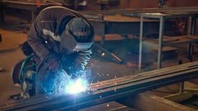 semi-automatic welding Stock Photo