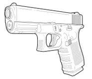 Semi-autopistool Stock Fotografie