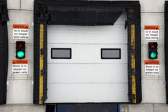 Semi bay door Royalty Free Stock Images
