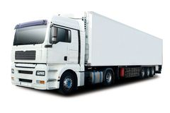 semi blanc de camion Images stock