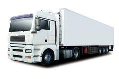 semi blanc de camion Images stock