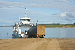 Semi boarding ferry Stock Image