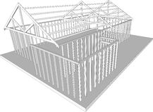 Semi-build house frame Royalty Free Stock Image