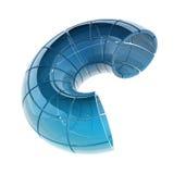 Semi-círculo de vidro Imagens de Stock Royalty Free