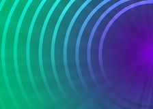 Semi-círculos concéntricos abstractos en fondo púrpura y verde stock de ilustración