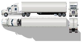 Semi-caminhão da carga do vetor Foto de Stock