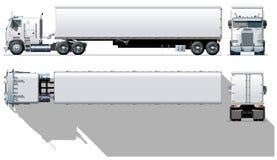 Semi-caminhão da carga do vetor Fotos de Stock