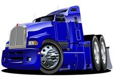 Semi-caminhão dos desenhos animados do vetor Fotografia de Stock Royalty Free