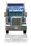 Semi caminhão isolado em um fundo branco Imagens de Stock Royalty Free