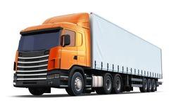 Semi-caminhão isolado no fundo branco Fotografia de Stock