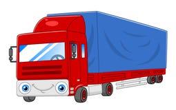 Semi-camion de bande dessinée Images libres de droits