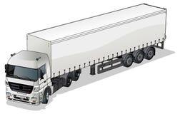 Semi-camion del carico di vettore royalty illustrazione gratis