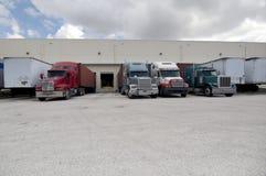 Semi camion e rimorchi Fotografia Stock Libera da Diritti
