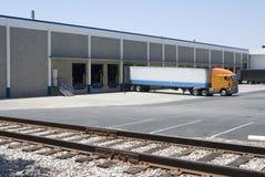 Semi camion/remorque Image stock