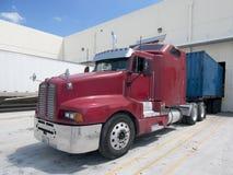 Semi camion sporco Fotografia Stock