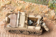 Semi-caterpillar motorcycle SdKfz 2. Top view Royalty Free Stock Photo