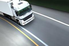 semi ciężarowy biel zdjęcie stock